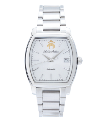 Rectangular Watch with Stainless Steel Band