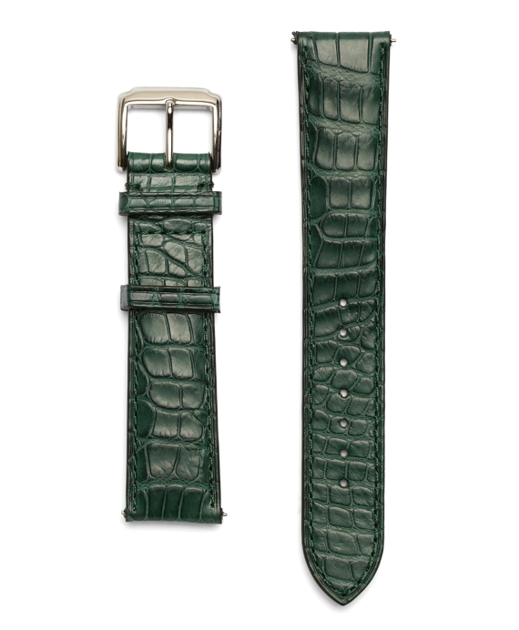 "9"" Alligator Watchband Green"