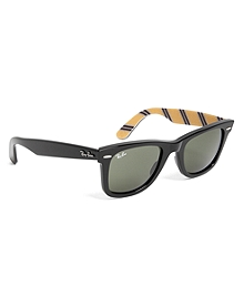 Ray-Ban® Wayfarer Sunglasses with Yellow BB#1 Repp Stripe