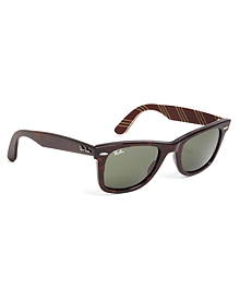 Ray-Ban® Wayfarer Sunglasses with Burgundy BB#1 Rep Stripe