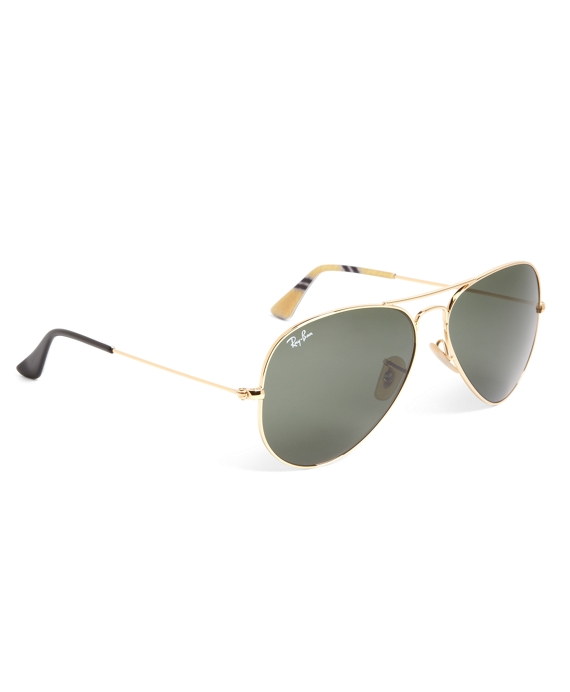 Ray-Ban® Aviator Sunglasses with Yellow BB#1 Repp Stripe Gold-Yellow