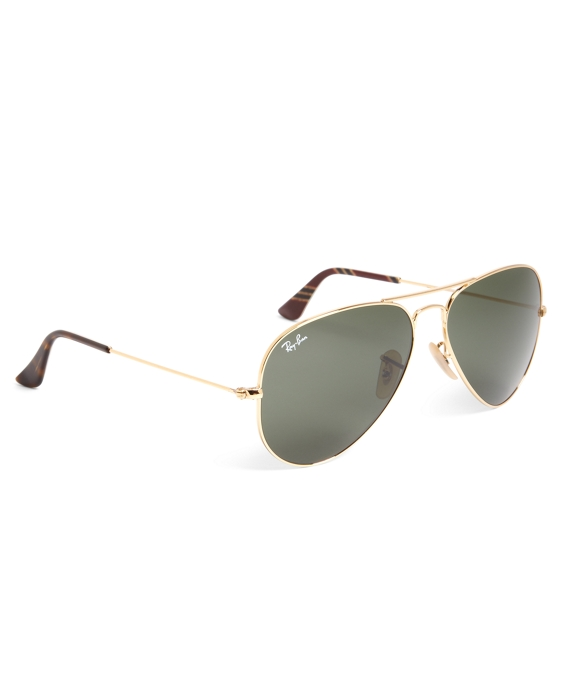 Ray-Ban® Aviator Sunglasses with Burgundy BB#1 Repp Stripe Gold-Burgundy