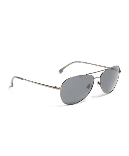 Gunmetal Metal Aviator BB#1 Stripe Arm Sunglasses