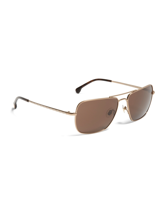 Taupe Metal Navigator BB#1 Stripe Arm Sunglasses Taupe
