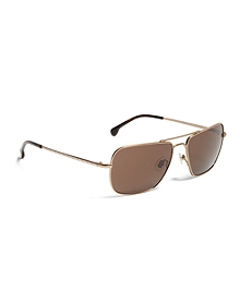 Taupe Metal Navigator BB#1 Stripe Arm Sunglasses