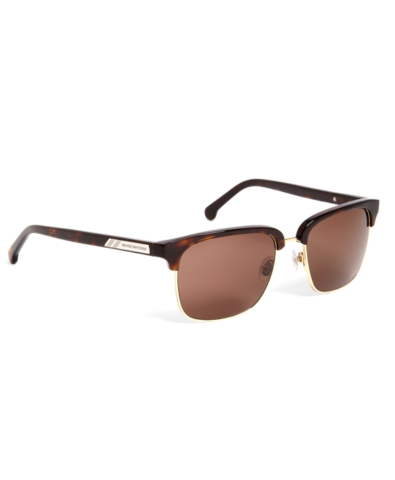 Tortoise Clubmaster Sunglasses with Brown Lens Tortoise