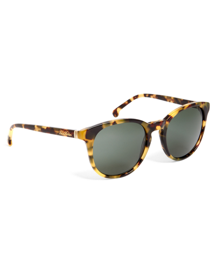 Olive Horn Round Sunglasses with Brown Lens