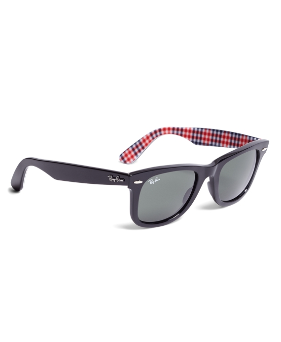Ray-Ban® Wayfarer Sunglasses with Gingham Black