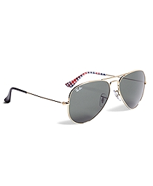 Ray-Ban® Aviator Sunglasses with Gingham