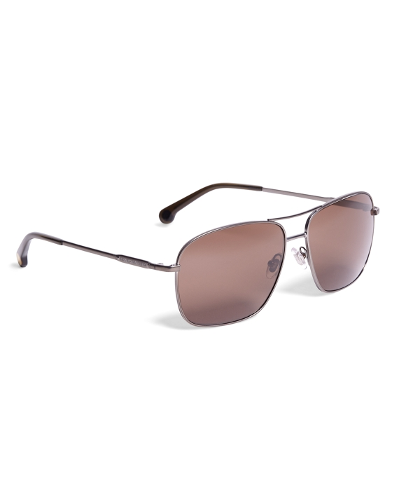 Brooks Brothers Metal Pilot Sunglasses Silver