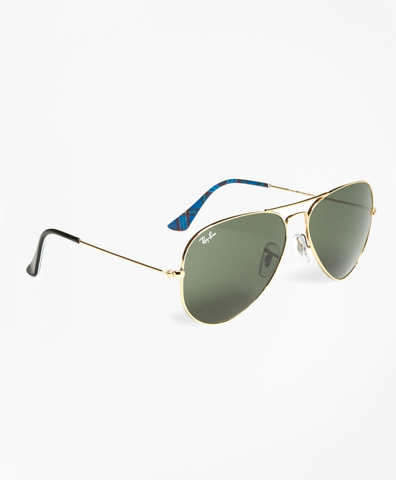 Ray-Ban® Aviator Sunglasses with Tartan Black