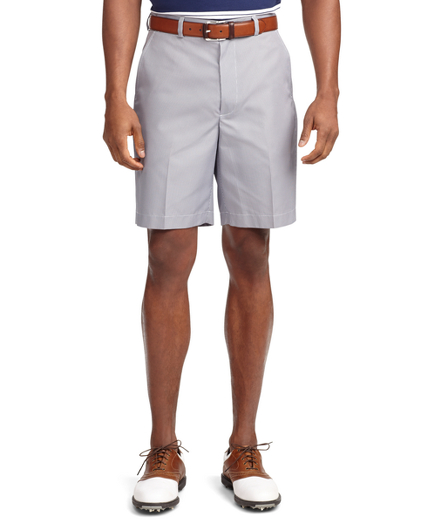 St Andrews Links Plain-Front Mini Gingham Golf Shorts