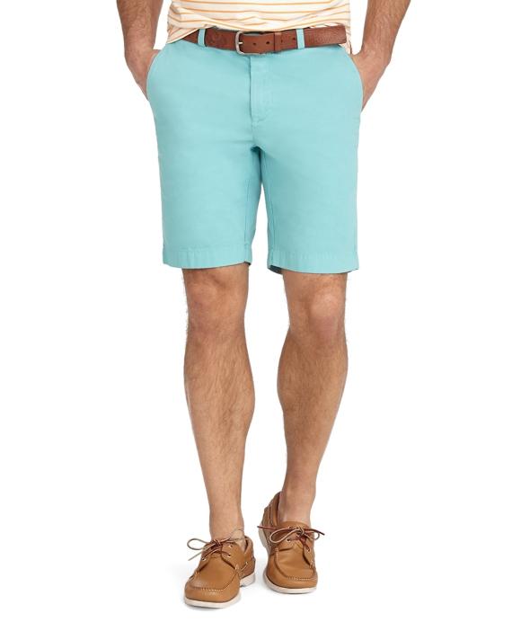 Garment-Dyed Twill Bermuda Shorts Aqua