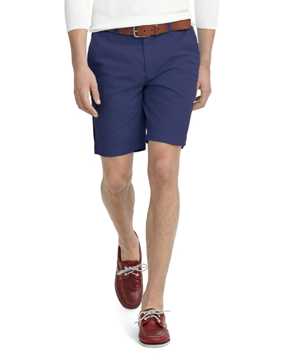Garment-Dyed Twill Bermuda Shorts Dark Blue