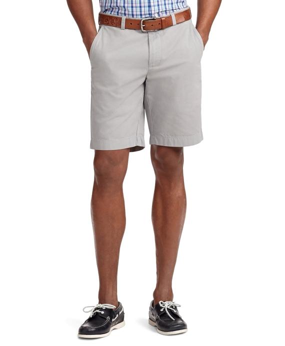 Garment-Dyed Twill Bermuda Shorts Grey