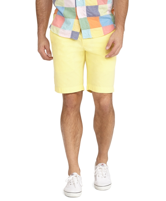 Garment-Dyed Twill Bermuda Shorts Yellow