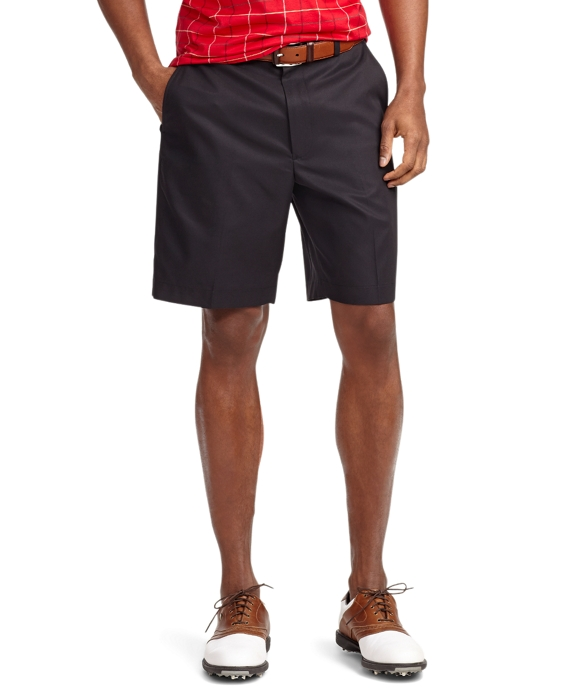 St Andrews Links Plain-Front Golf Shorts Black