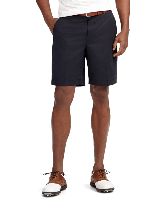 St Andrews Links Plain-Front Golf Shorts Navy