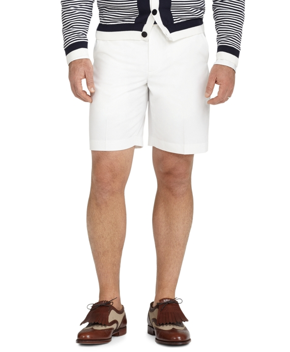 St Andrews Links Plain-Front Golf Shorts White