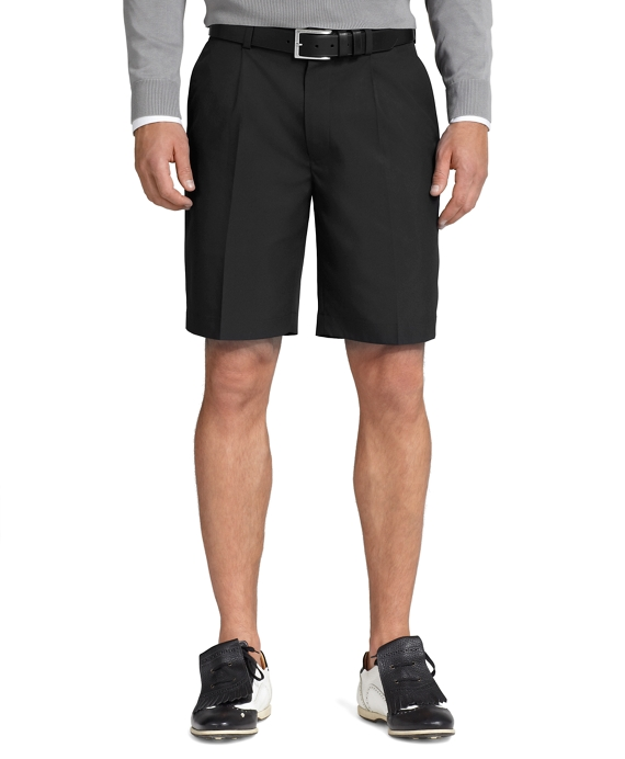 St Andrews Links Pleat-Front Shorts Black