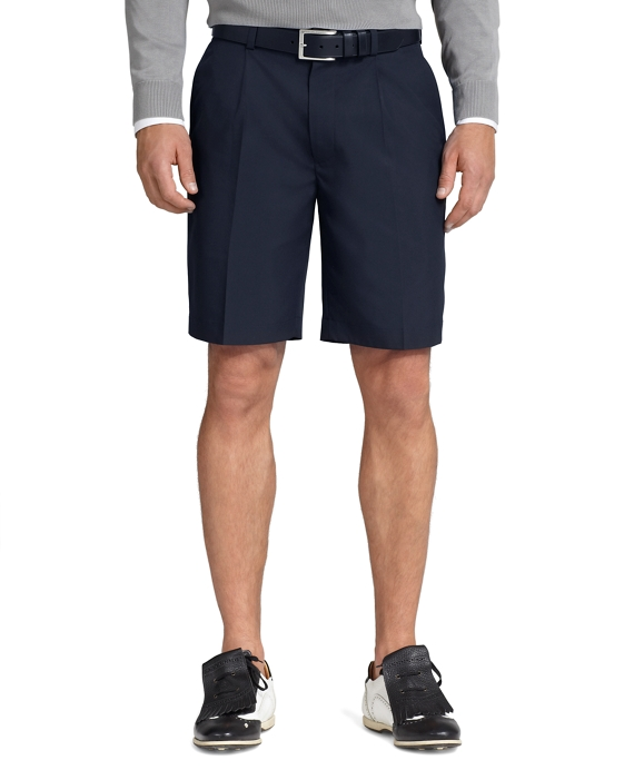 St Andrews Links Pleat-Front Shorts Navy