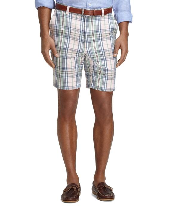 "9"" Madras Shorts Pink"