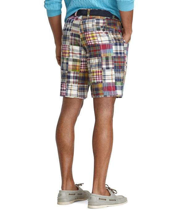 Men's 9 Inch Patchwork Madras Shorts