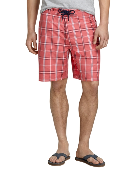 """8"""" Holly Berry Plaid Board Shorts Holly Berry"""