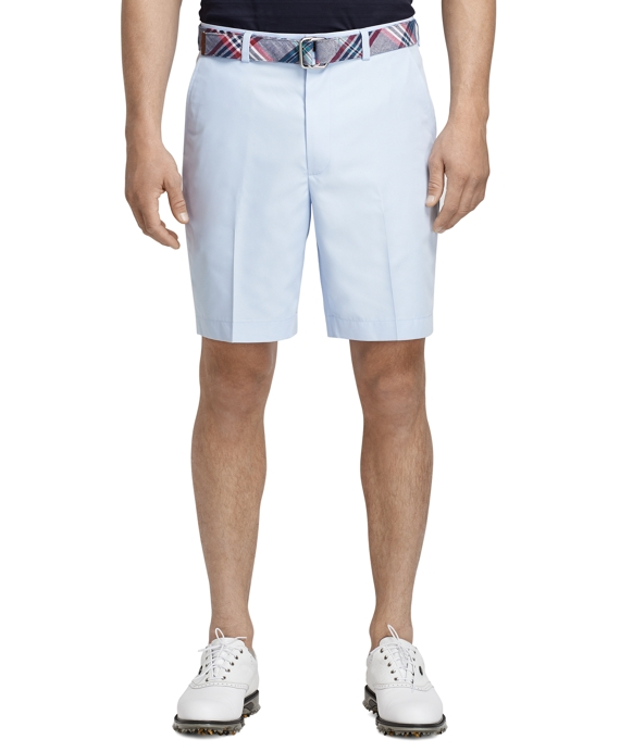 St Andrews Links Plain-Front Golf Shorts Snowflake Blue