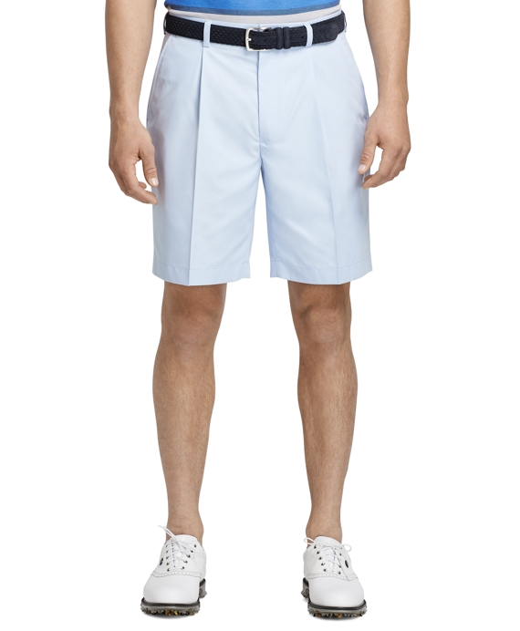 St Andrews Links Pleat-Front Golf Shorts Snowflake Blue