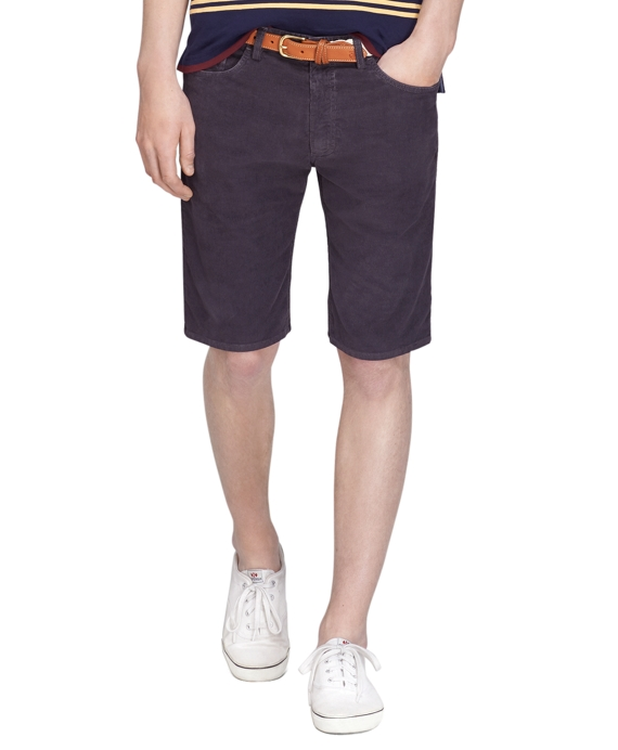 Corduroy Shorts Charcoal