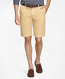 "Garment-Dyed 11"" Lightweight Cotton Bermuda Shorts"