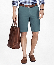 "Garment-Dyed 11"" Lightweight Cotton Bermuda Shorts"