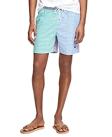 "Montauk 6"" Multi Gingham Swim Trunks"