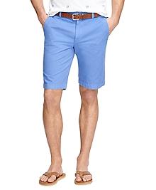 "Garment-Dyed Plain-Front 11"" Twill Bermuda Shorts"