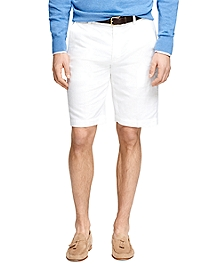 "11"" Linen and Cotton Bermuda Shorts"