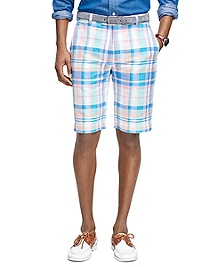 Pink Plaid Bermuda Shorts