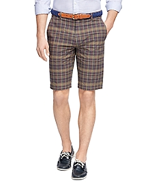 Green Madras Bermuda Shorts