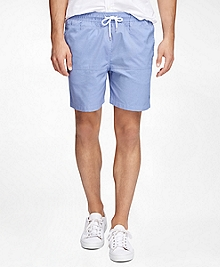 "Montauk 6"" Oxford Swim Trunks"