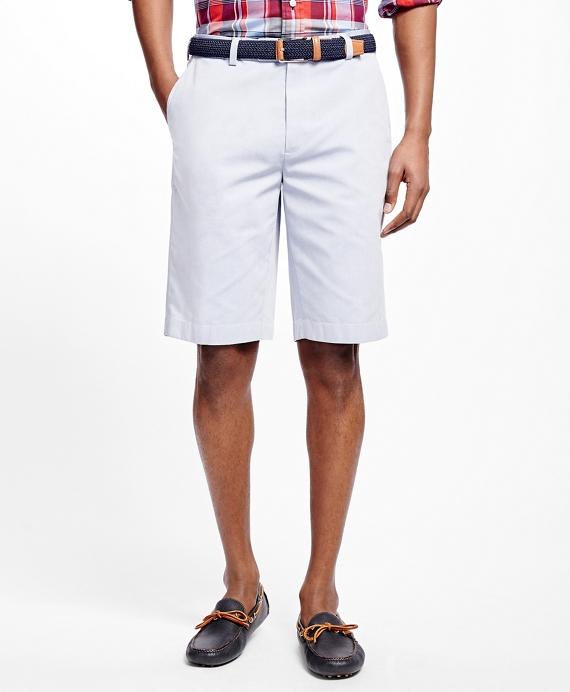 Non-Iron Supima® Cotton Oxford Bermuda Shorts Blue