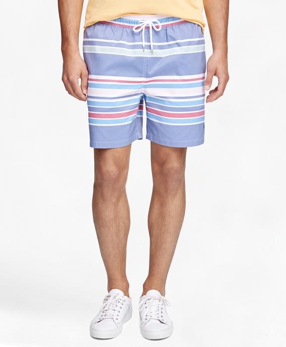 "Montauk 6"" Awning Stripe Swim Trunks"