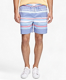 "Montauk 6"" Awning Stripe Swim Trunks"