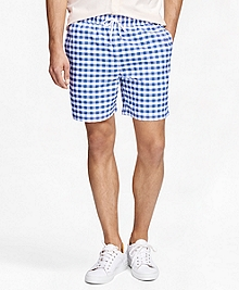 "Montauk 6"" Gingham Swim Trunks"
