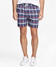 "Montauk 6"" Madras Swim Trunks"