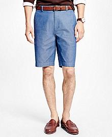 "Herringbone 11"" Bermuda Shorts"