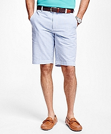 Stripe Seersucker Bermuda Shorts
