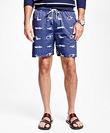 "Montauk 6"" Nautical Knot Swim Trunks"