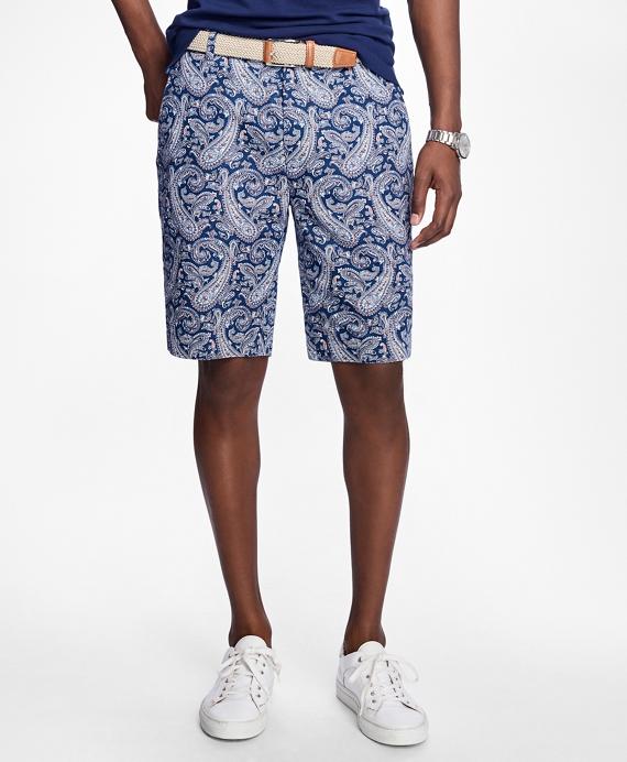 Paisley Print Bermuda Shorts
