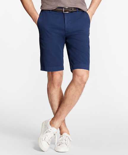 Garment-Dyed Bermuda Shorts