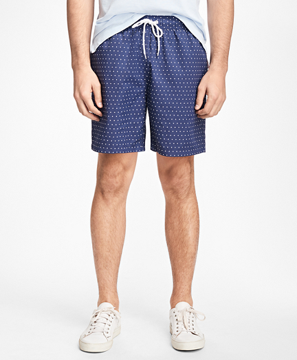 "Montauk 6"" Dot Print Swim Trunks"